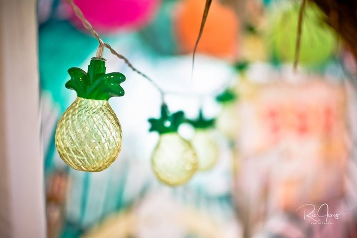 Pineapple String Lights from a Hawaiian Luau Inspired Birthday Party on Kara's Party Ideas | KarasPartyIdeas.com (7)