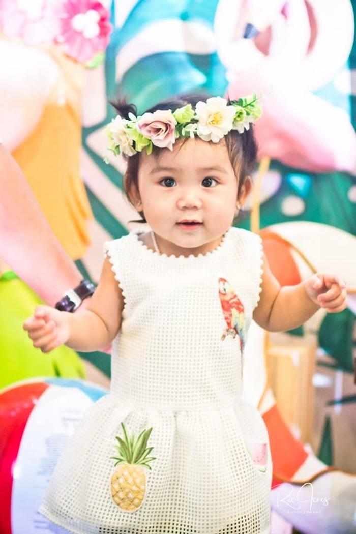 Little Hawaiian Princess from a Hawaiian Luau Inspired Birthday Party on Kara's Party Ideas | KarasPartyIdeas.com (6)