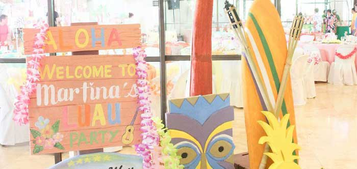 Hawaiian Luau Inspired Birthday Party on Kara's Party Ideas | KarasPartyIdeas.com (2)