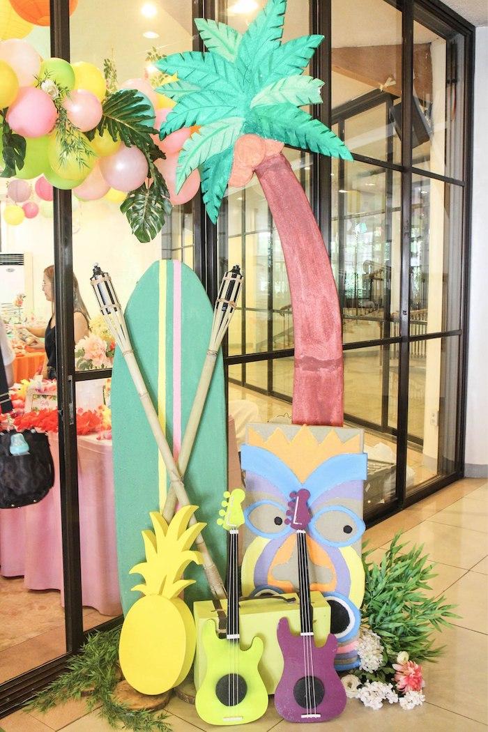 Tropical Party Decor from a Hawaiian Luau Inspired Birthday Party on Kara's Party Ideas | KarasPartyIdeas.com (24)