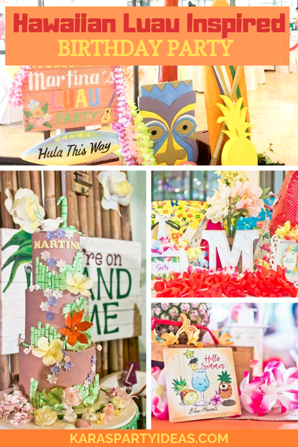 Hawaiian Luau Inspired Birthday Party via Kara's Party Ideas - KarasPartyIdeas.com