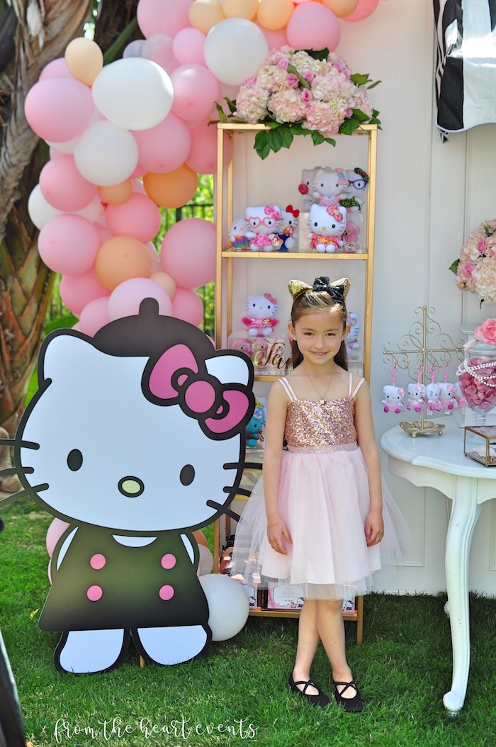 Hello Kitty Standee from a Hello Kitty in Paris Birthday Party on Kara's Party Ideas | KarasPartyIdeas.com (26)