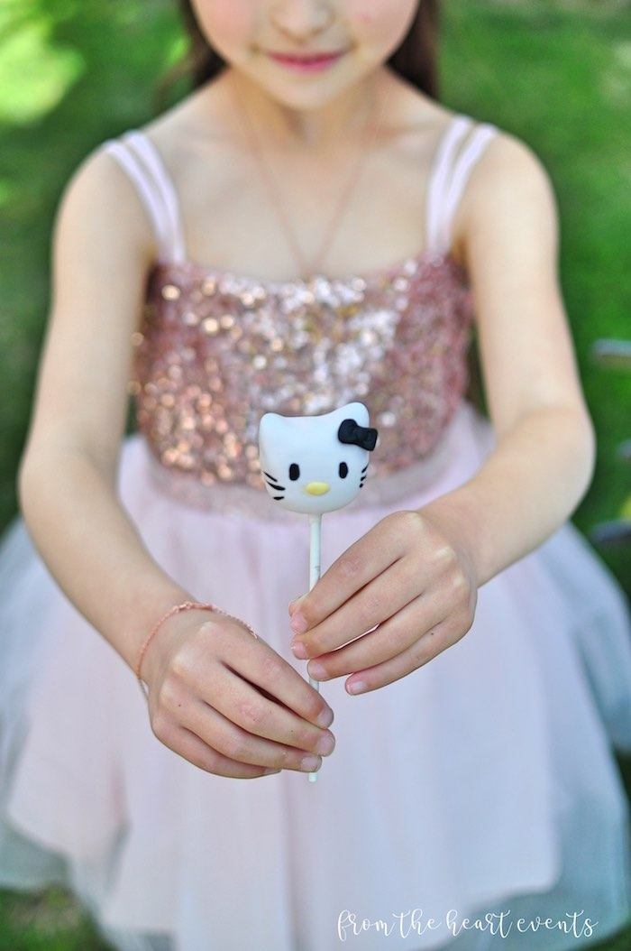 Hello Kitty Cake Pop from a Hello Kitty in Paris Birthday Party on Kara's Party Ideas | KarasPartyIdeas.com (25)