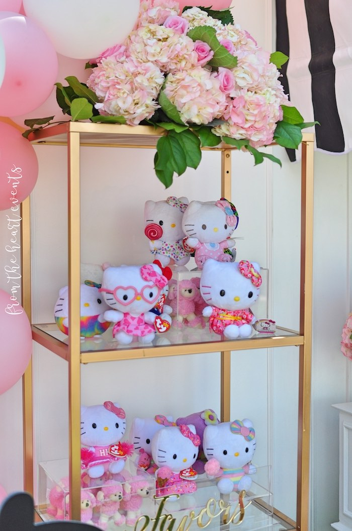 Hello Kitty Favors + Favor Shelf from a Hello Kitty in Paris Birthday Party on Kara's Party Ideas | KarasPartyIdeas.com (24)