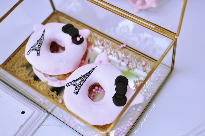 Eiffel Tower Donuts from a Hello Kitty in Paris Birthday Party on Kara's Party Ideas | KarasPartyIdeas.com (22)