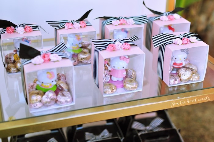 Hello Kitty Favor Boxes from a Hello Kitty in Paris Birthday Party on Kara's Party Ideas | KarasPartyIdeas.com (15)