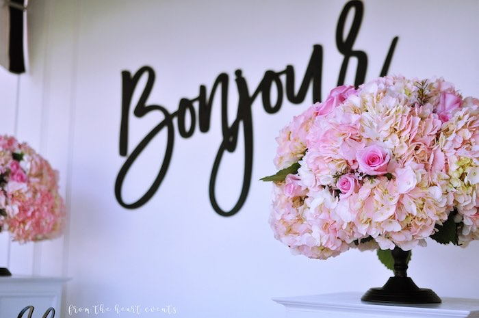 Pink Blooms from a Hello Kitty in Paris Birthday Party on Kara's Party Ideas | KarasPartyIdeas.com (14)