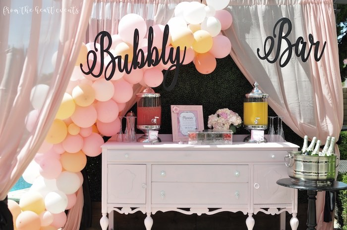Bubbly Bar from a Hello Kitty in Paris Birthday Party on Kara's Party Ideas | KarasPartyIdeas.com (7)
