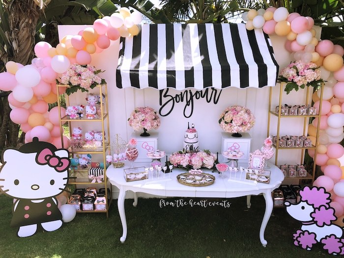 Hello Kitty in Paris Birthday Party on Kara's Party Ideas | KarasPartyIdeas.com (6)