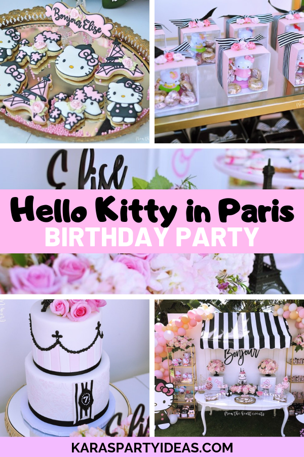 Hello Kitty in Paris Birthday Party via Kara's Party Ideas - KarasPartyIdeas.com