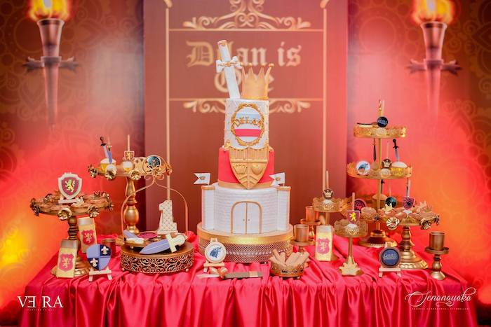 Medieval Themed Dessert Table from a Medieval Royal Prince + Game of Thrones Birthday Party on Kara's Party Ideas | KarasPartyIdeas.com (10)