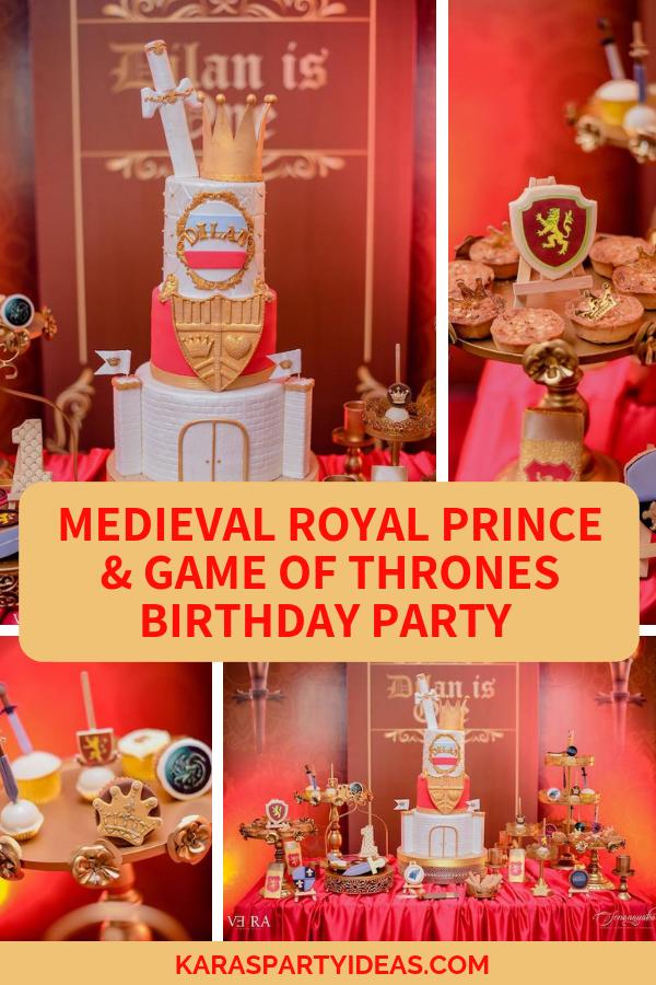 Medieval Royal Prince +Game of Thrones Birthday Party via Kara's Party Ideas - KarasPartyIdeas.com