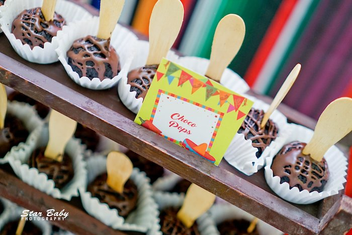 Choco Pops from a Mexican Fiesta Birthday Party on Kara's Party Ideas | KarasPartyIdeas.com (34)