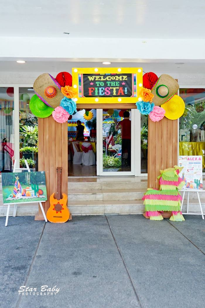Fiesta Party Entrance + Arch from a Mexican Fiesta Birthday Party on Kara's Party Ideas | KarasPartyIdeas.com (29)