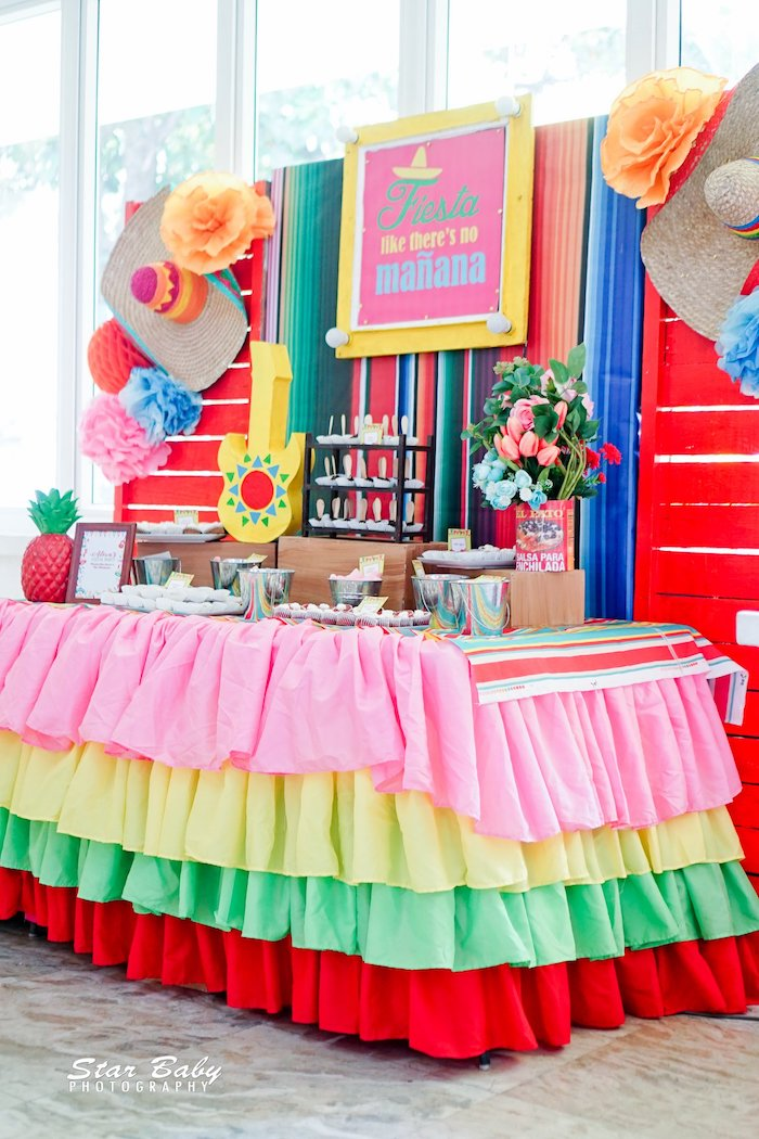 Fiesta-inspired Sweet Table from a Mexican Fiesta Birthday Party on Kara's Party Ideas | KarasPartyIdeas.com (25)