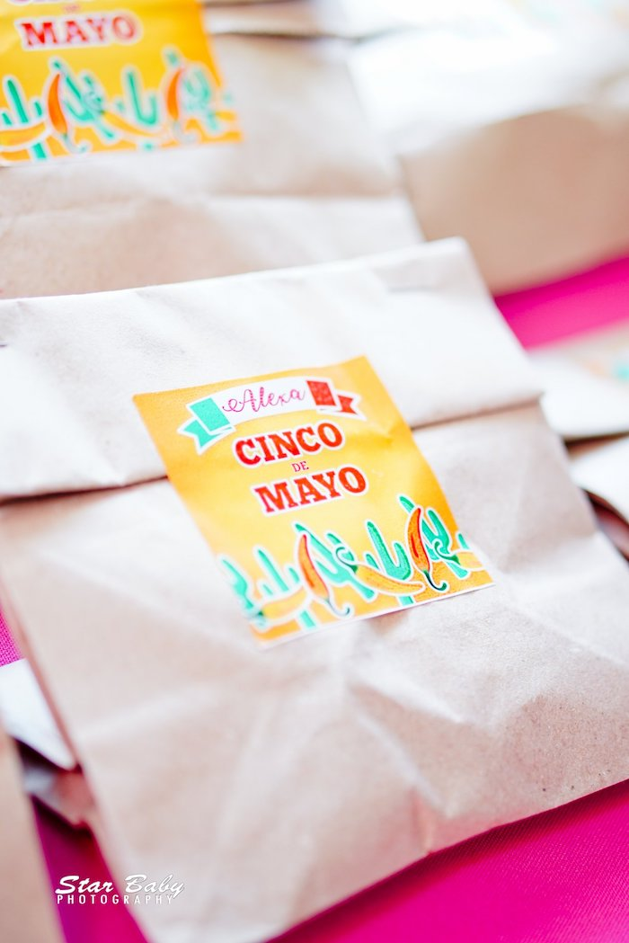 Cinco De Mayo Snack Sacks from a Mexican Fiesta Birthday Party on Kara's Party Ideas | KarasPartyIdeas.com (20)