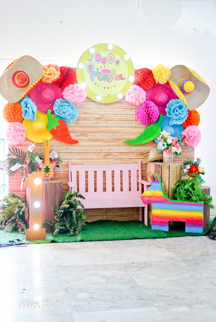 Fiesta Photo Booth from a Mexican Fiesta Birthday Party on Kara's Party Ideas | KarasPartyIdeas.com (18)