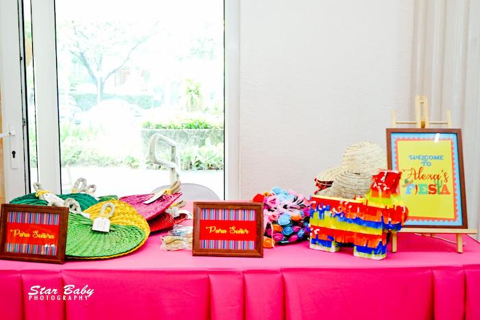Welcome Table from a Mexican Fiesta Birthday Party on Kara's Party Ideas | KarasPartyIdeas.com (42)