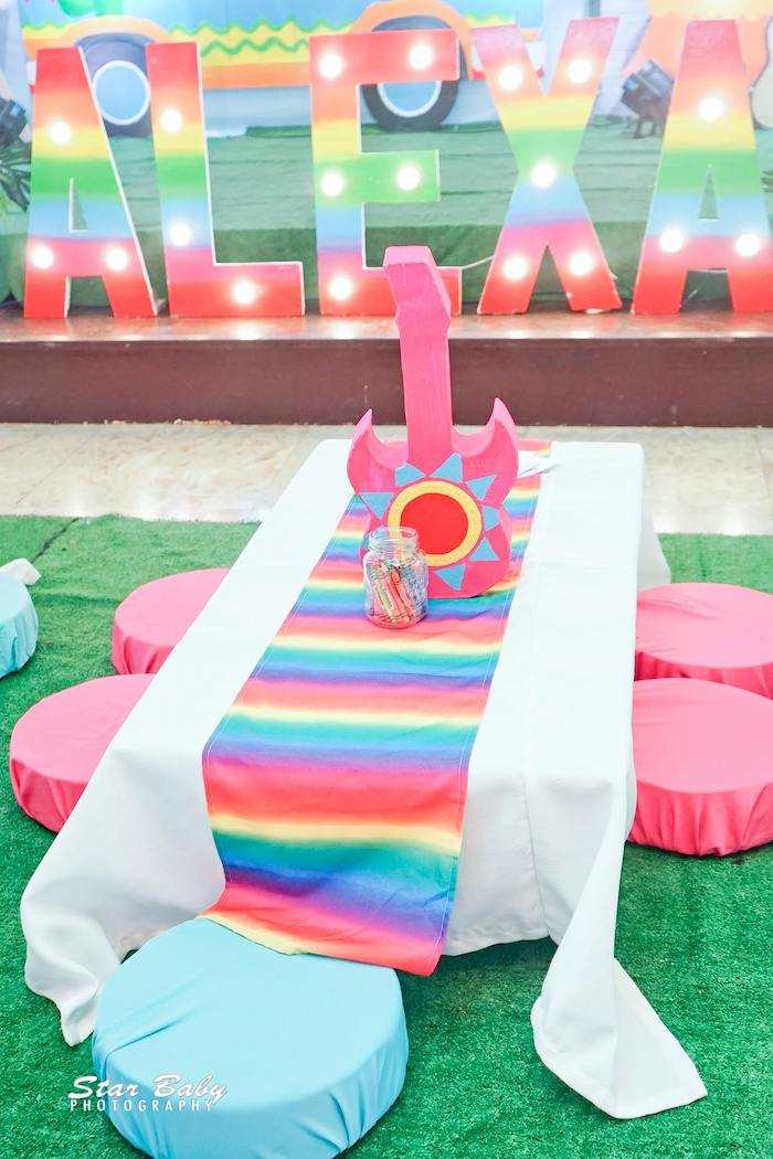 Fiesta Kid Table from a Mexican Fiesta Birthday Party on Kara's Party Ideas | KarasPartyIdeas.com (13)