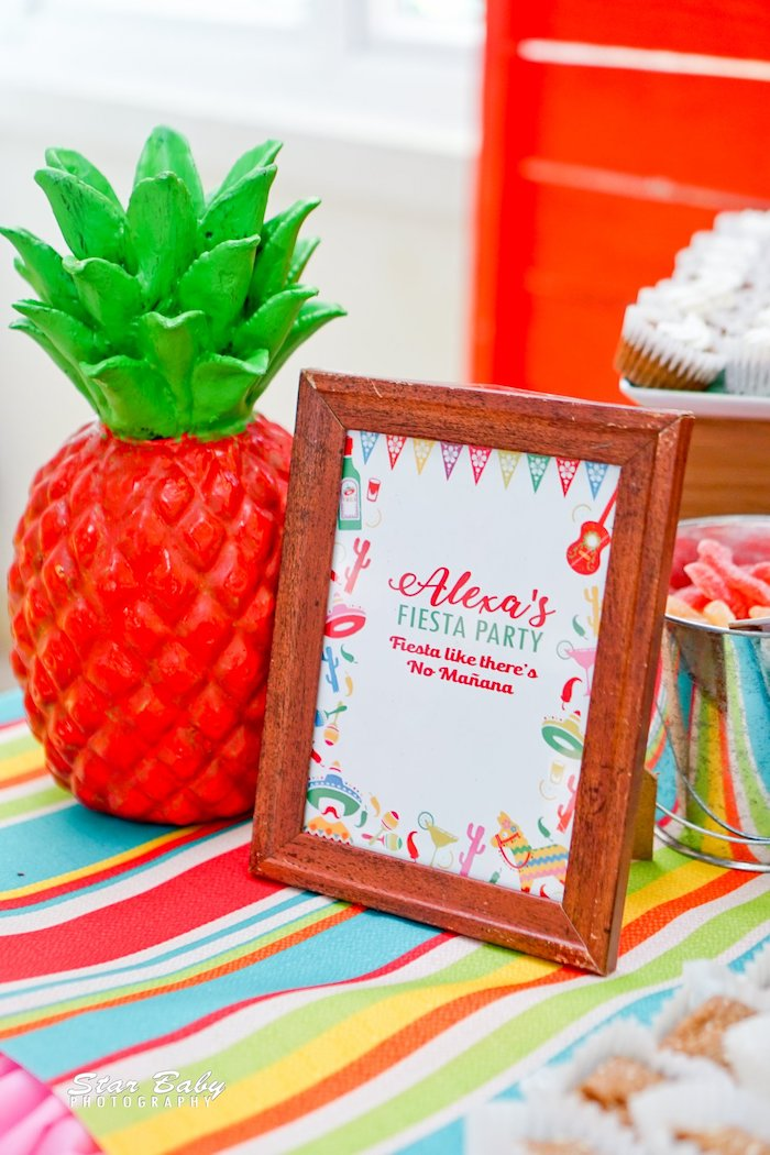Fiesta Party Signage from a Mexican Fiesta Birthday Party on Kara's Party Ideas | KarasPartyIdeas.com (4)