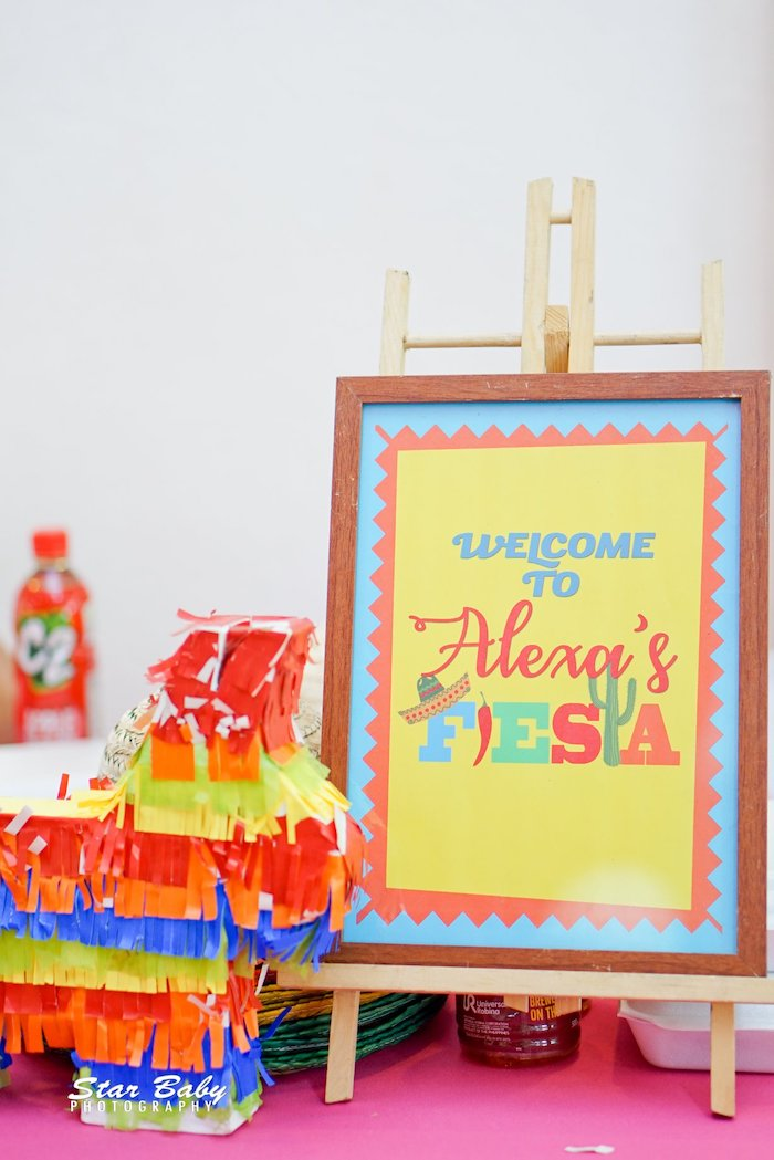 Fiesta Party Signage from a Mexican Fiesta Birthday Party on Kara's Party Ideas | KarasPartyIdeas.com (37)