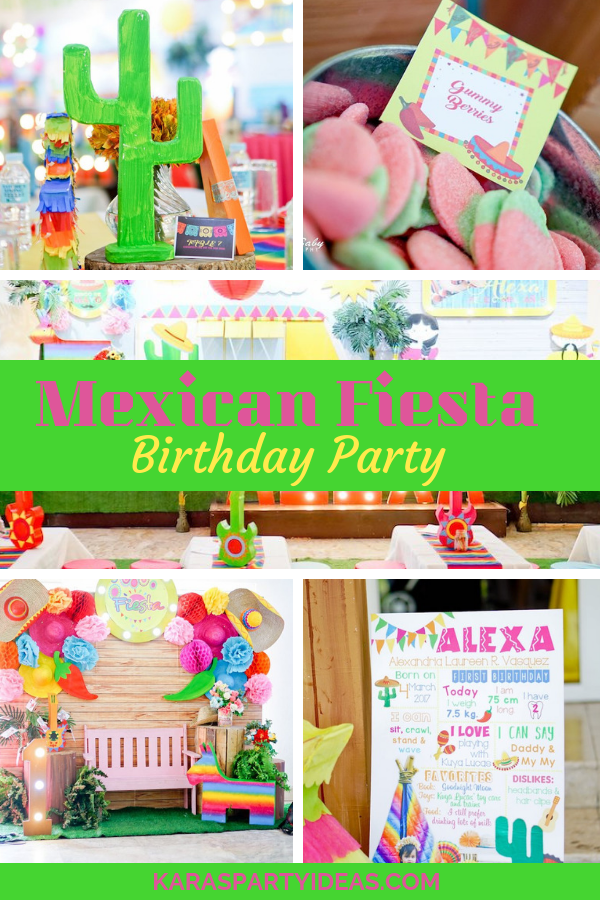 Mexican Fiesta Birthday Party via Kara's Party Ideas - KarasPartyIdeas.com
