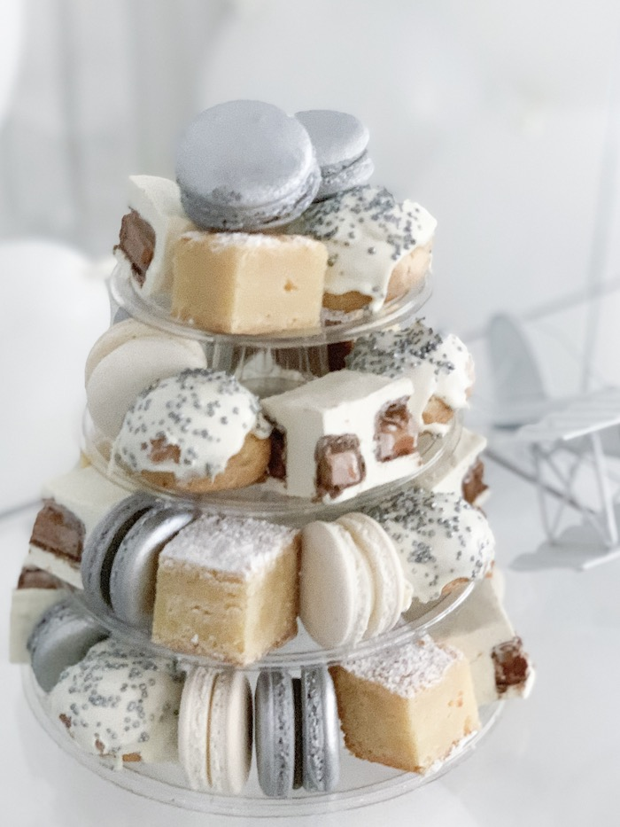 Dessert Tower from a Minimal Scandinavian Inspired Aviation Birthday Party on Kara's Party Ideas | KarasPartyIdeas.com (18)