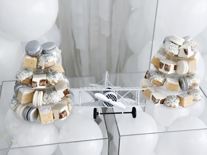 Airplane Sweet Table from a Minimal Scandinavian Inspired Aviation Birthday Party on Kara's Party Ideas | KarasPartyIdeas.com (17)