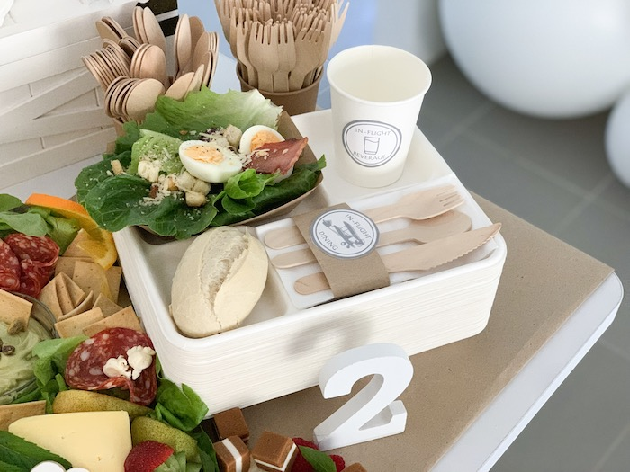 In-Flight Food Tray from a Minimal Scandinavian Inspired Aviation Birthday Party on Kara's Party Ideas | KarasPartyIdeas.com (9)