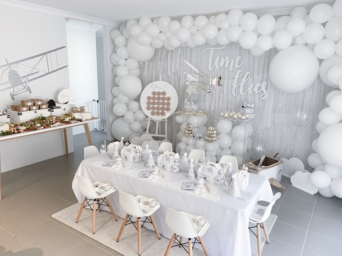 Minimal Scandinavian Inspired Aviation Birthday Party on Kara's Party Ideas | KarasPartyIdeas.com (32)