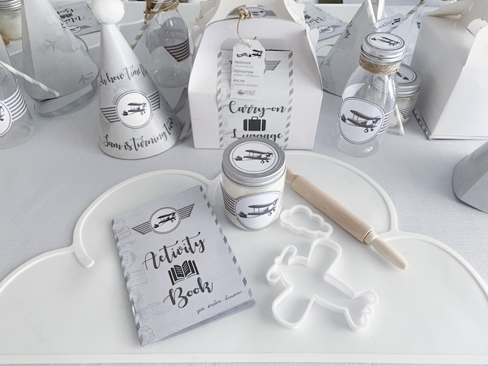 Table Setting from a Minimal Scandinavian Inspired Aviation Birthday Party on Kara's Party Ideas | KarasPartyIdeas.com (28)