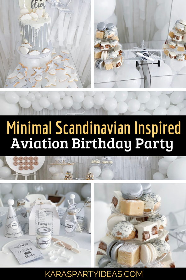 Minimal Scandinavian Inspired Aviation Birthday Party via Kara's Party Ideas - KarasPartyIdeas.com