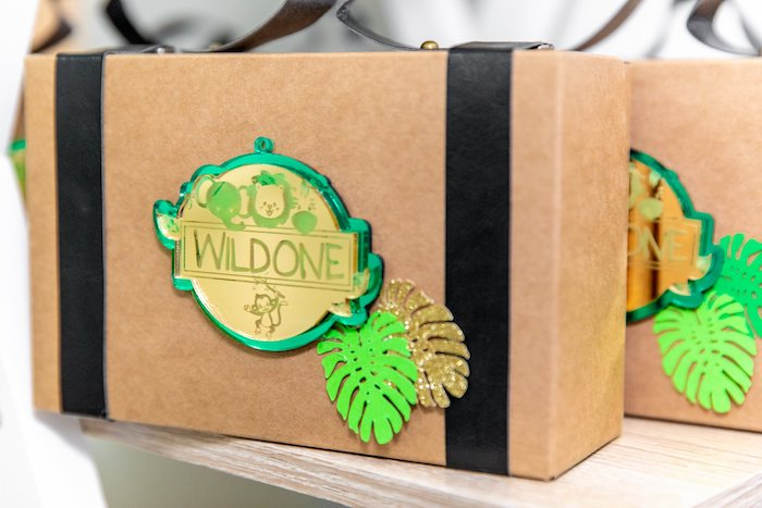 "Wild One Favor Box from a Modern ""Wild One"" 1st on Kara's Party Ideas 