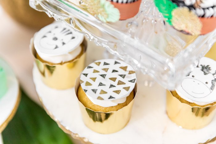 "Cupcakes from a Modern ""Wild One"" 1st on Kara's Party Ideas 