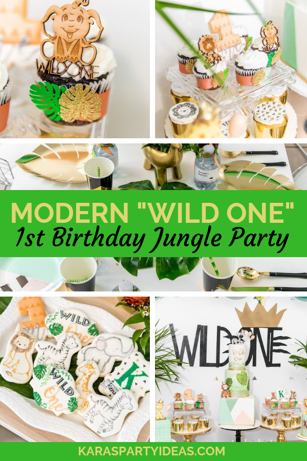 Modern Wild One 1st Birthday Jungle Party via Kara's Party Ideas - KarasPartyIdeas.com