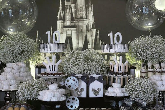 Mickey Mouse Dessert Table from a Monochromatic Mickey & Minnie Mouse Birthday Party on Kara's Party Ideas | KarasPartyIdeas.com (6)