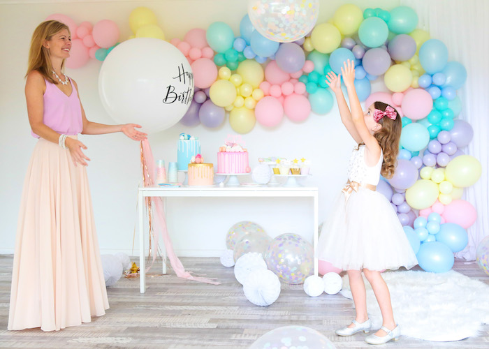Pastel Sorbet Inspired Balloon Birthday Party on Kara's Party Ideas | KarasPartyIdeas.com (16)
