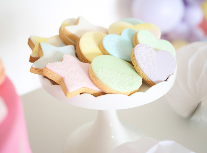 Shape Cookies from a Pastel Sorbet Inspired Balloon Birthday Party on Kara's Party Ideas | KarasPartyIdeas.com (15)