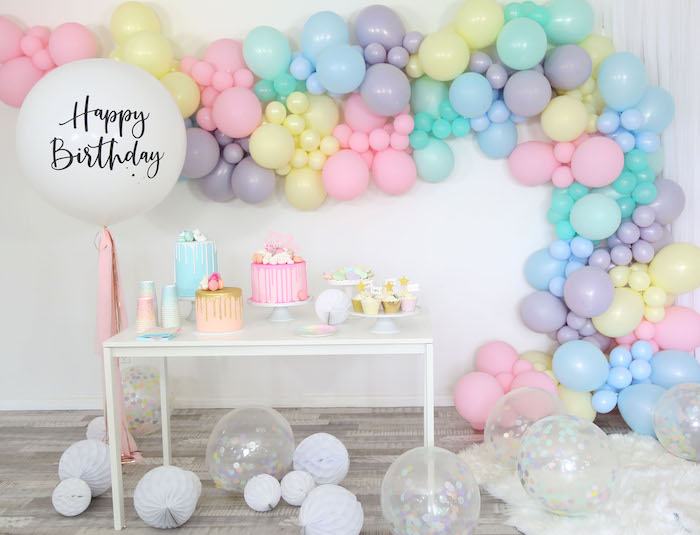 Pastel Sorbet Inspired Balloon Birthday Party on Kara's Party Ideas | KarasPartyIdeas.com (14)