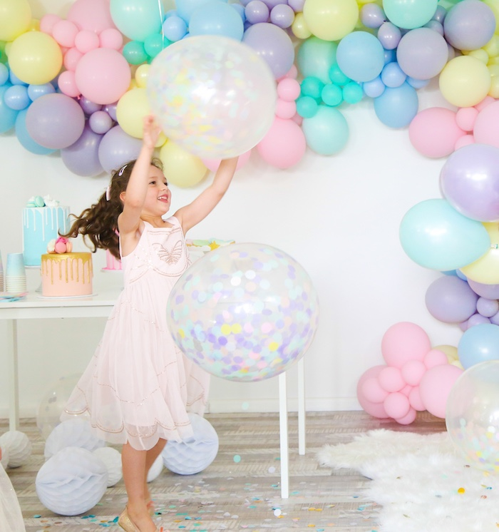 Pastel Sorbet Inspired Balloon Birthday Party on Kara's Party Ideas | KarasPartyIdeas.com (12)