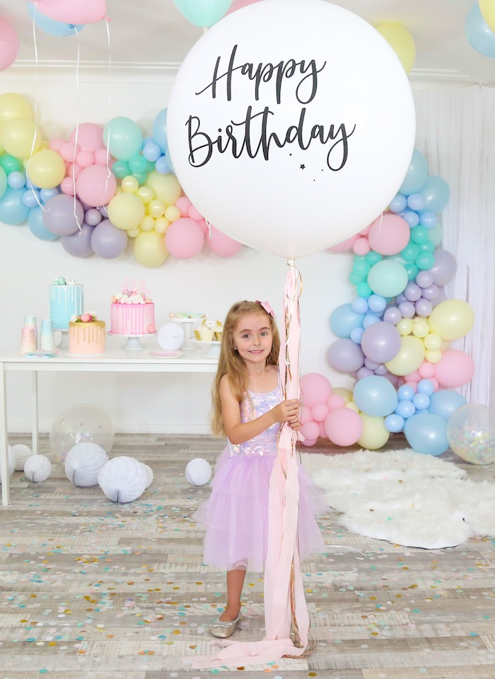 Pastel Sorbet Inspired Balloon Birthday Party on Kara's Party Ideas | KarasPartyIdeas.com (11)