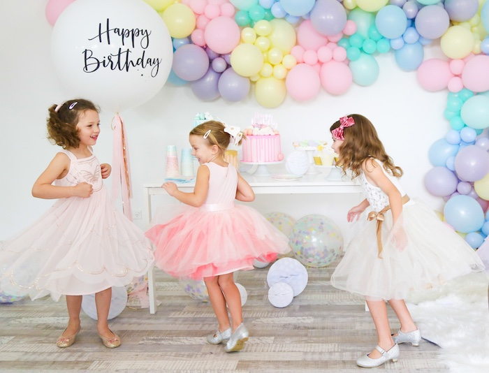 Pastel Sorbet Inspired Balloon Birthday Party on Kara's Party Ideas | KarasPartyIdeas.com (10)