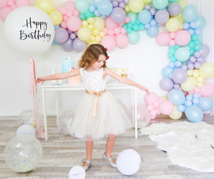 Pastel Sorbet Inspired Balloon Birthday Party on Kara's Party Ideas | KarasPartyIdeas.com (9)
