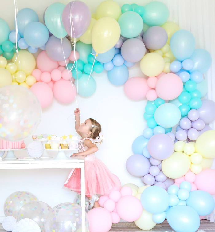 Pastel Sorbet Inspired Balloon Birthday Party on Kara's Party Ideas | KarasPartyIdeas.com (25)