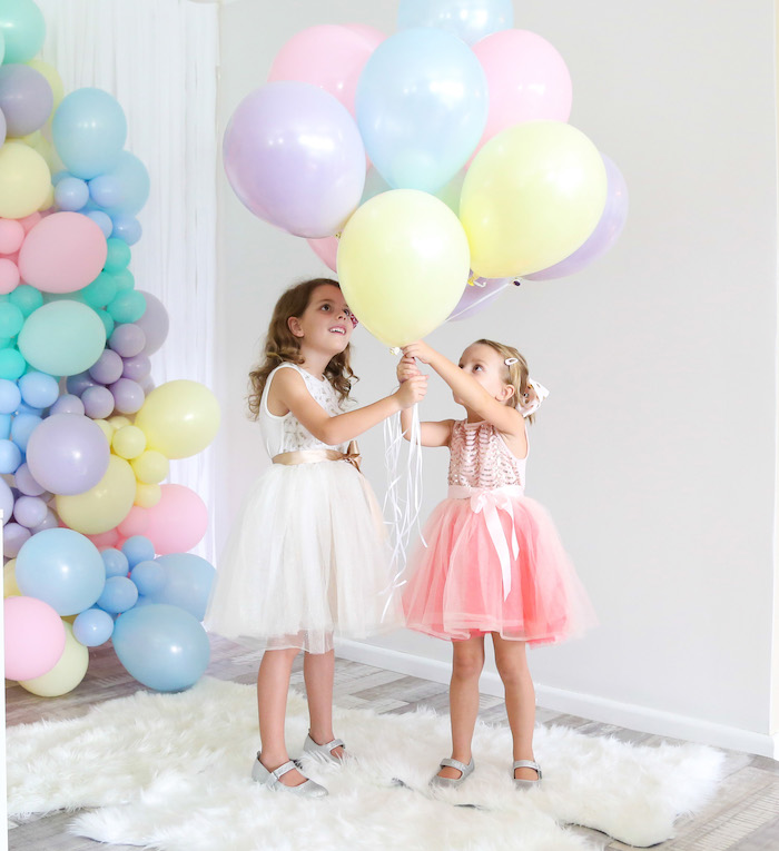 Pastel Balloon Bunch from a Pastel Sorbet Inspired Balloon Birthday Party on Kara's Party Ideas | KarasPartyIdeas.com (24)