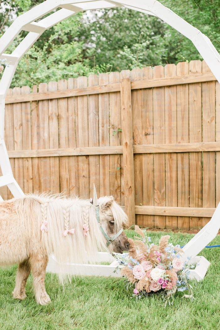 Unicorn from a Pastel Two-nicorn Unicorn 2nd Birthday Party on Kara's Party Ideas | KarasPartyIdeas.com (16)