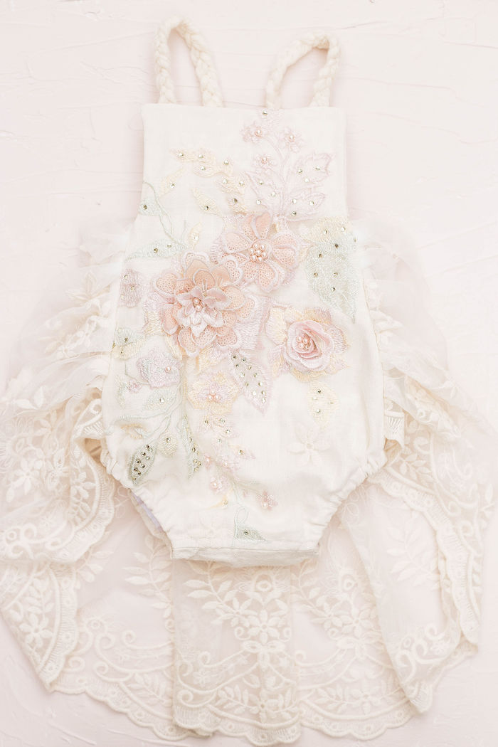Floral Lace Romper from a Pastel Two-nicorn Unicorn 2nd Birthday Party on Kara's Party Ideas | KarasPartyIdeas.com (30)