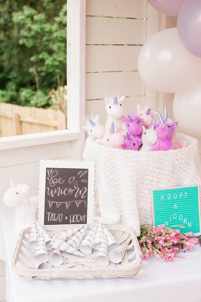 Unicorn Adoption from a Pastel Two-nicorn Unicorn 2nd Birthday Party on Kara's Party Ideas | KarasPartyIdeas.com (9)
