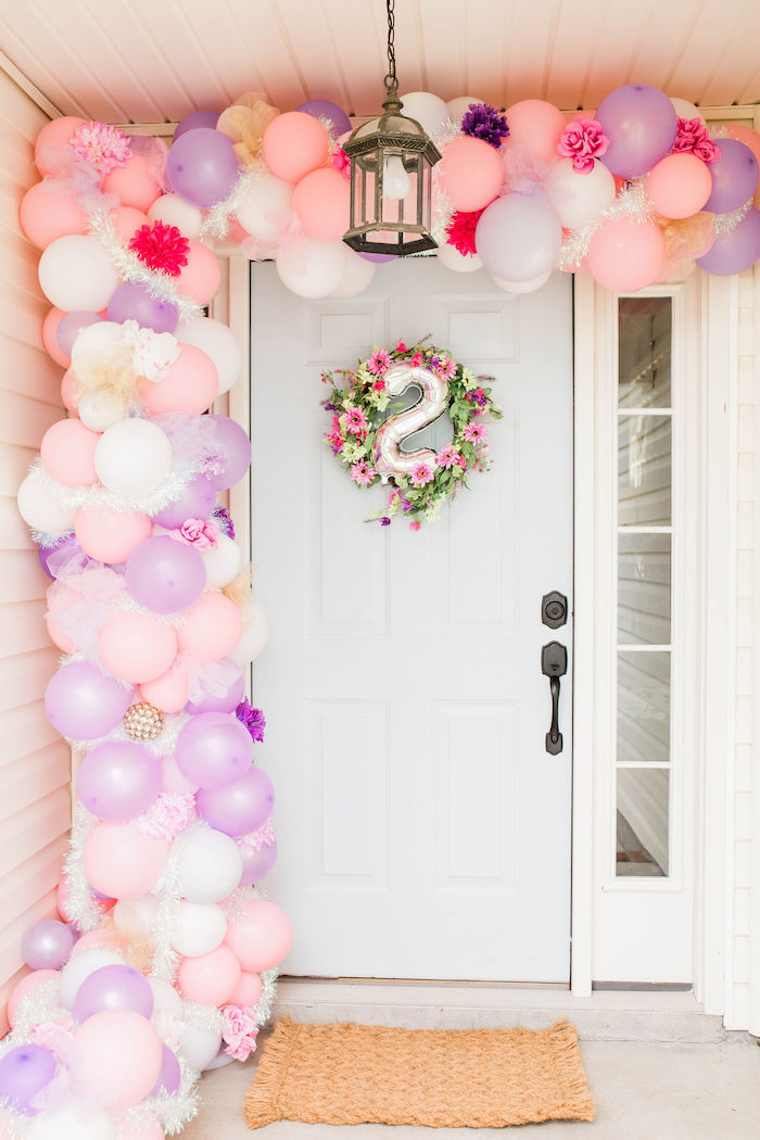 Balloon Garland Entrance from a Pastel Two-nicorn Unicorn 2nd Birthday Party on Kara's Party Ideas | KarasPartyIdeas.com (7)