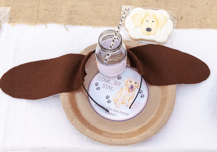 Puppy Themed Table Setting from a Puppy Party on Kara's Party Ideas | KarasPartyIdeas.com (22)